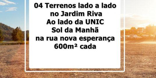Cod. 097 – 04 Terrenos lado a lado no Jardim Riva